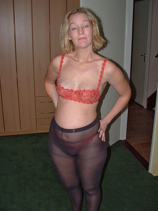 From Behind Pantyhose Tights 56