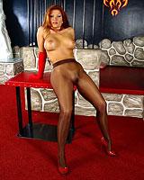 matures pantyhose legs